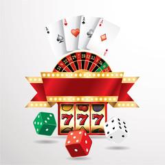 casino red banner