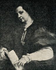 Lady with a book of Petrarch's rhyme (Andrea del Sarto, 1528)