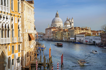 picturesque Grand Canal of Venice, Italy, Europe