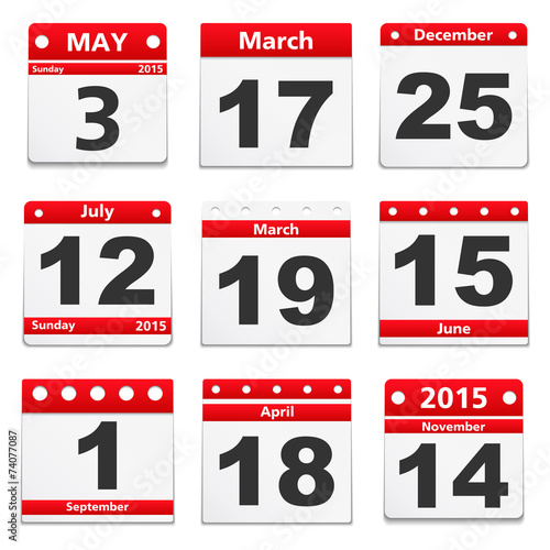 Calendar Pages - 74077087