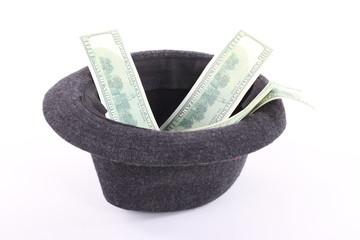 money in hat
