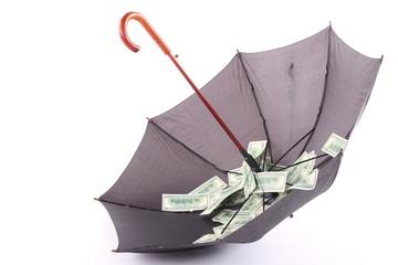 Umbrella with money