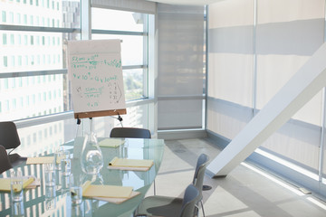 Conference room in office building