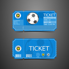 Football Ticket Card Retro design