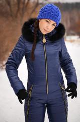 Beautiful woman in warm clothing