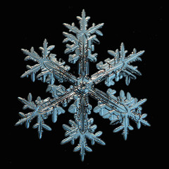 snowflake crystal natural
