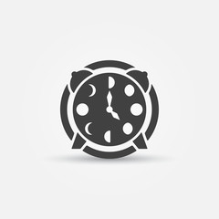 Moon phases alarm clock icon