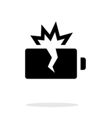 Explosion battery simple icon on white background.