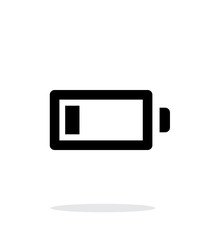 Little charge battery simple icon on white background.