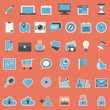 Set of web icons in flat design