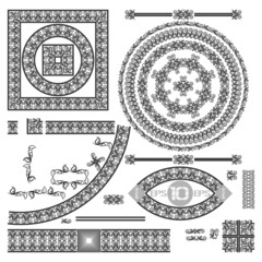 Set of decorative elements.