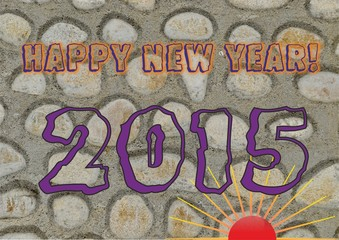 Happy new year greeting for 2015