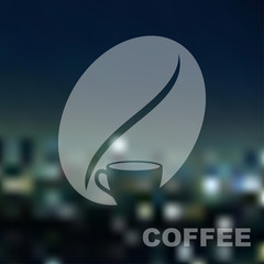 Cup of coffee on urban background