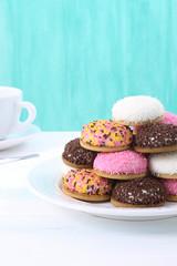 marshmallow biscotti colorati