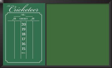 Cricketeer Chalkboard Scoreboard