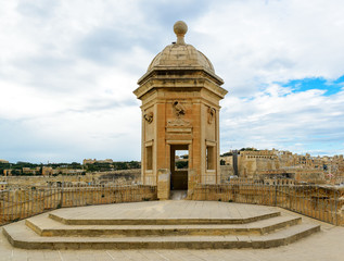 Watchtower in Senglea, Malta. Garden view