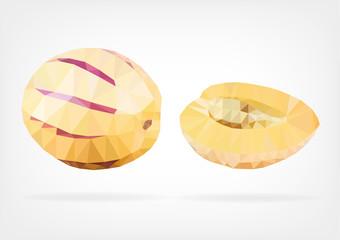 Low Poly Pepino Melon fruit