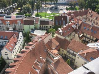 Черепичные крыши старого Вильнюса