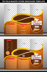 Tri Fold Bakery Store Brochure Template