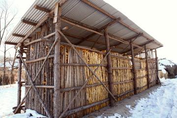 中国東北地方の農家