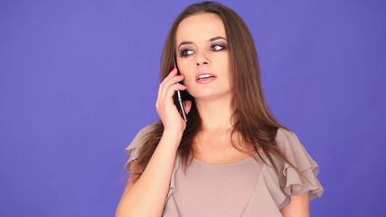 preety woman having a phone conversation