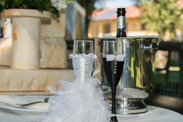 i bicchieri degli sposi
