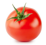 Bright red tomato with handle