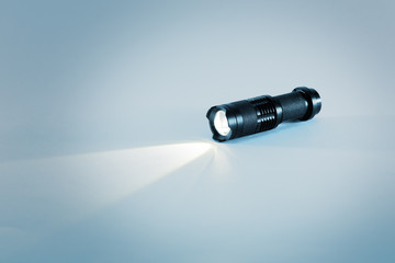 Led torch with beam of light