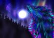 Howling Wolf Spirit - 74086052