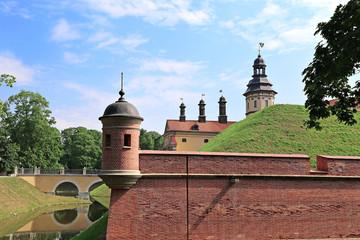 Ancient Nesvizhsky Castle in Nesvizh, Belarus