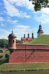 Ancient Nesvizhsky Castle in Belarus