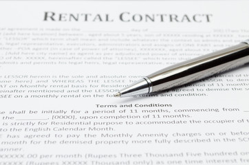 Rental contract