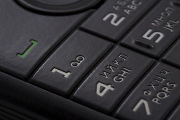 keypad of a cellphone