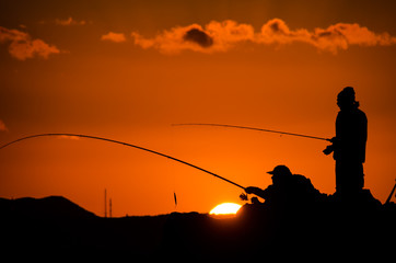 Fisherman Fishing Rod Silhouette
