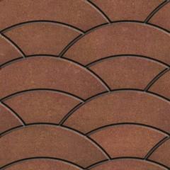 Brown Paving Slabs Laid as Semicircle.