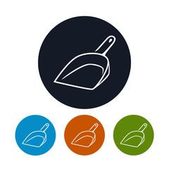 Icon dustpan , vector illustration
