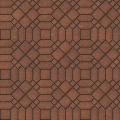 Brown Pavement with a Complicated Pattern.