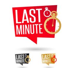 Last minute !