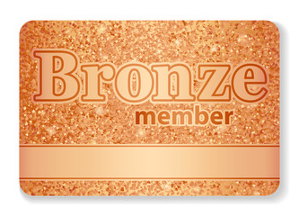 Bronze member VIP card composed from glitters