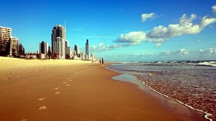 City sand and sea
