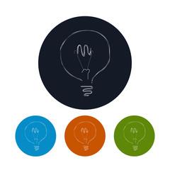 Icon lightbulb , vector illustration