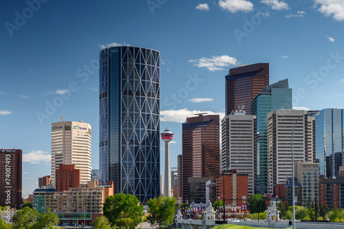 In de dag Canada Skyline Calgary Canada