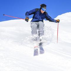 Skispass im Pulverschnee