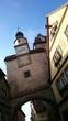 canvas print picture - Historischer turm mit uhr rothenburg ob der tauber