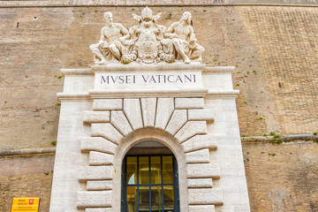 Entrance to museum in Vatican