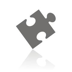 Icono pieza puzzle FB reflejo