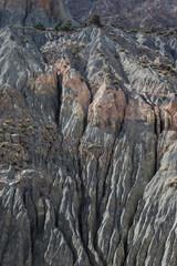 Mountain landscape in fann mountains, Tajikistan. weathered rock