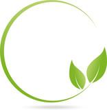 Logo, Kreis, Blätter, Heilpraktiker