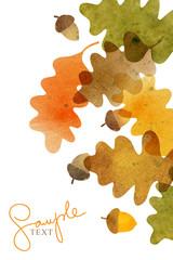 Watercolor cute card