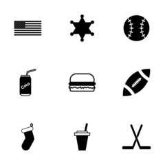 Vector usa icon set